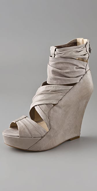 Boutique 9 Grigio Wedge Draped Booties