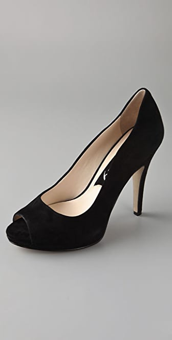 Boutique 9 Alfa Suede Open Toe Pumps
