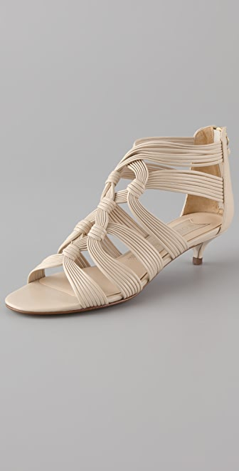 Womens Kitten Heel Sandals - Qu Heel