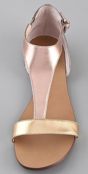 Boutique 9 Piraya T Strap Flat Sandals