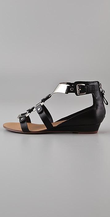 Boutique 9 Porsha Metal T Strap Sandals
