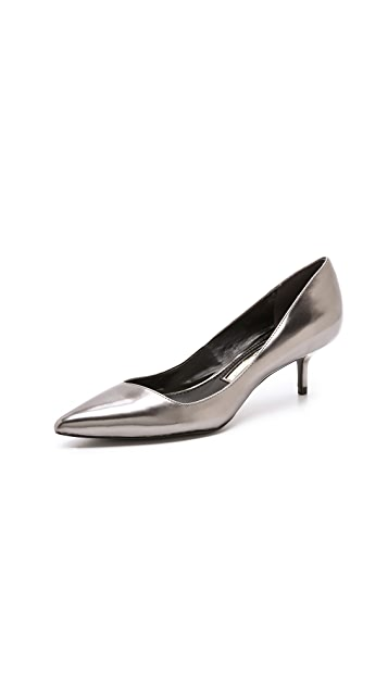 Boutique 9 Sophina Metallic Pumps on Kitten Heel