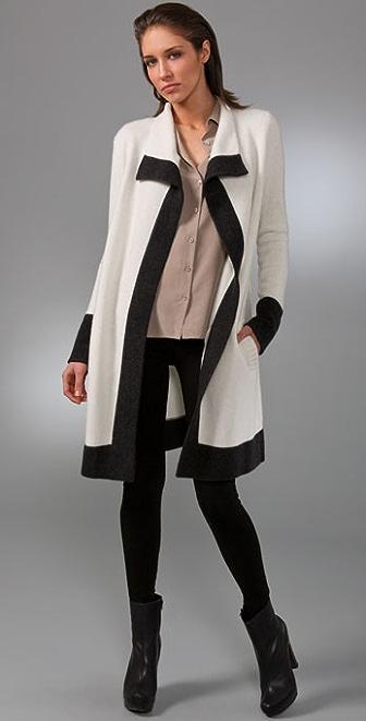 Brochu Walker Contrast Cardigan Sweater