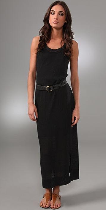 Brochu Walker Racer Back Long Dress with Belt