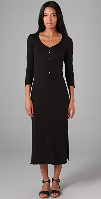 Brochu Walker Jersey Henley Long Dress