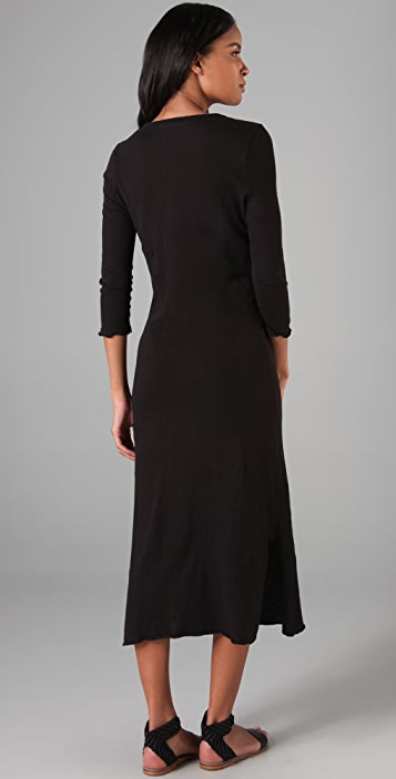 Brochu Walker Jersey Henley Long Dress