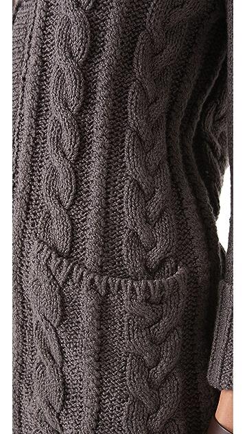 Brochu Walker Shirttail Cardigan
