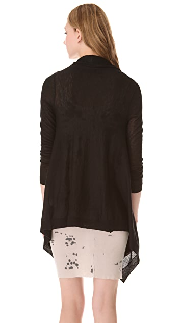 Brochu Walker Tattered Cashmere Cardigan