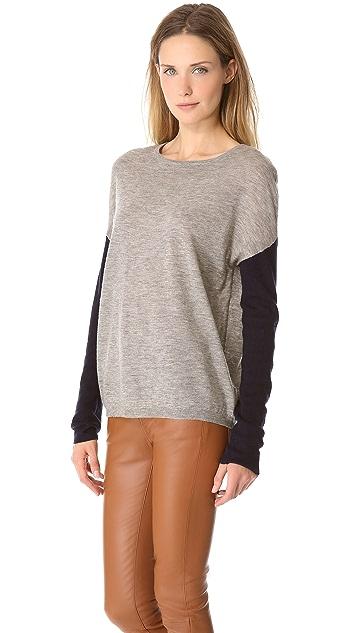 Brochu Walker Contrast Sleeve Crew Sweater