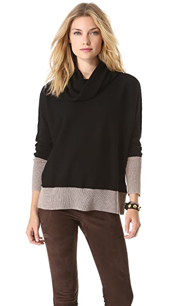 Brochu Walker Contrast Cowl Neck Sweater