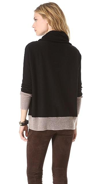 Brochu Walker Contrast Cowl Neck Sweater