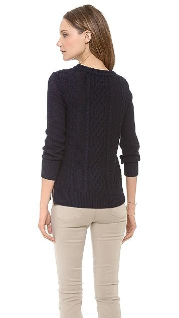 Brochu Walker Fisherman Cable Sweater