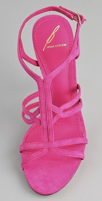 B Brian Atwood Lorrina Suede High Heel Sandals