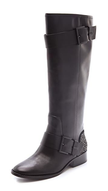 B Brian Atwood Dita Boots with Studded Heel