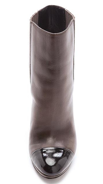 B Brian Atwood Fragola Cap Toe Booties