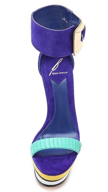 B Brian Atwood Braganca Platform Sandals
