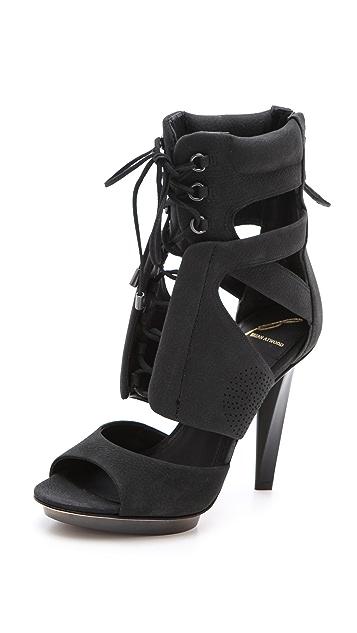 B Brian Atwood Deliziosa Laced Sandals
