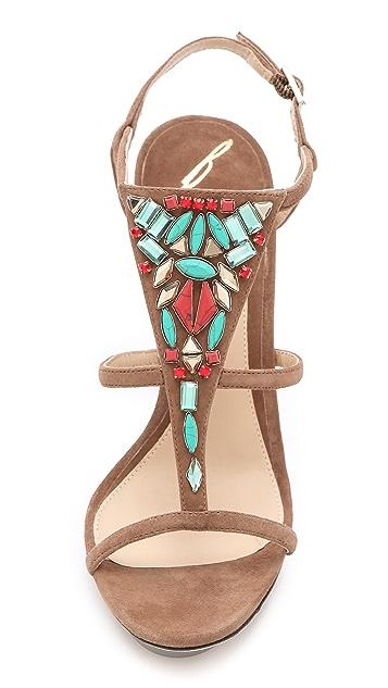 B Brian Atwood Donosa Jeweled Sandals