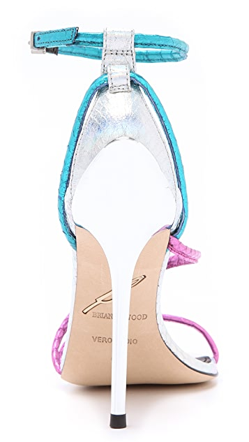 B Brian Atwood Labrea Asymmetrical Sandals