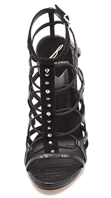B Brian Atwood Mirante Cage Sandals