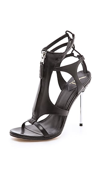 B Brian Atwood Merritta Zip Front Sandals
