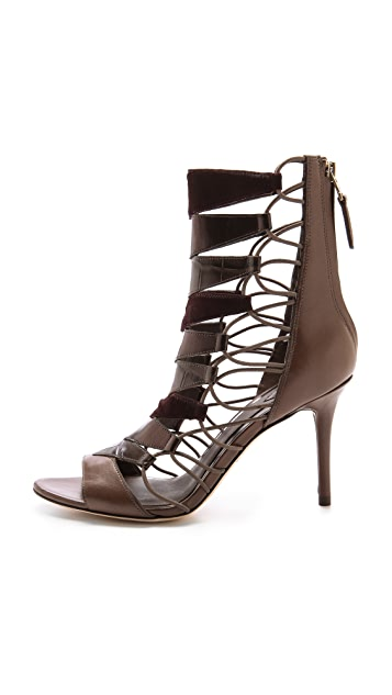 B Brian Atwood Elody Open Toe Booties