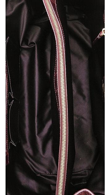 B Brian Atwood Croc Embossed Grace Bag