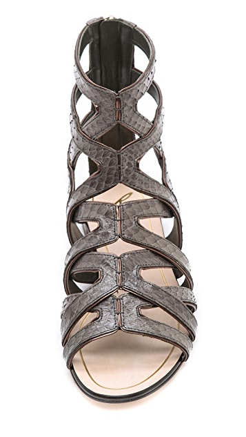 B Brian Atwood Alcarra Strappy Flat Sandals
