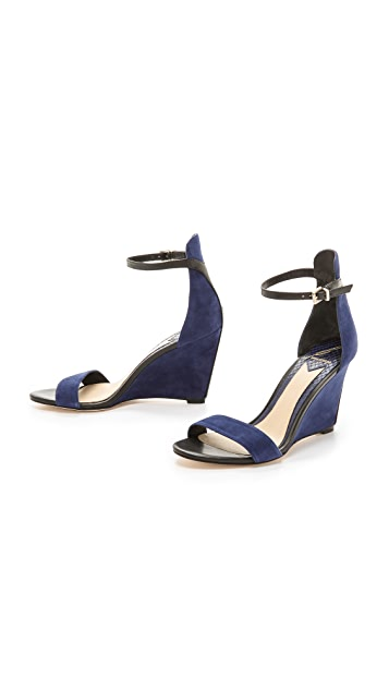 B Brian Atwood Roberta Ankle Strap Wedge Sandals