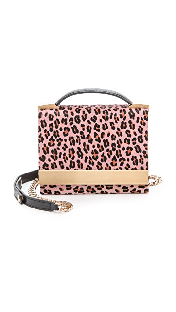 B Brian Atwood Ava Haircalf Top Handle Clutch
