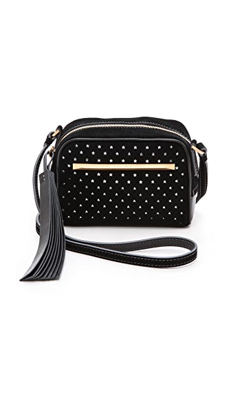 B Brian Atwood Perforated Barbara Cross Body Bag