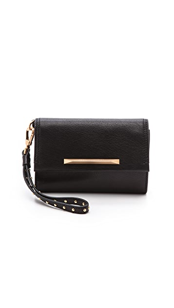 B Brian Atwood Tippy Wristlet with Interior Mirror