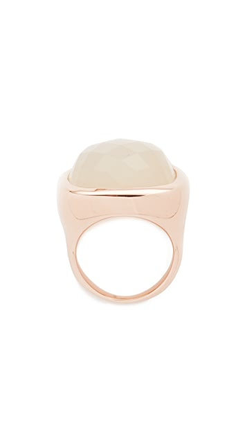 Bronzallure Faceted Square Stone Ring