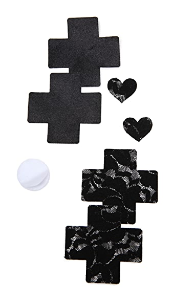 Bristols 6 Cross Nippies - Black