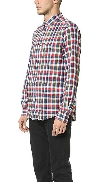 Ben Sherman Indigo Plaid Shirt