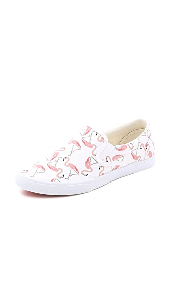 BucketFeet Flamingo Slip On Sneakers