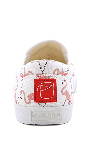 BucketFeet Flamingo Slip On Sneakers