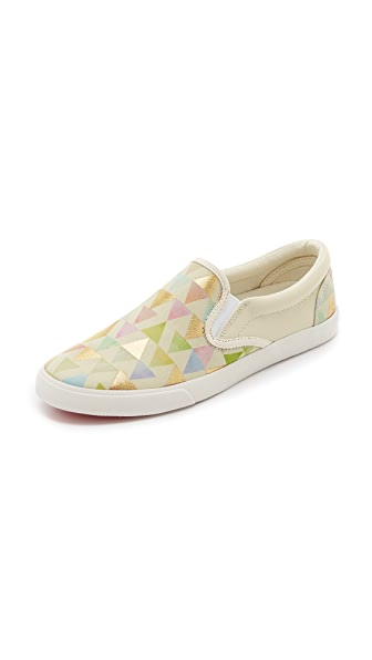 Bucketfeet Girly Things Slip On Sneakers - Beige/Gold