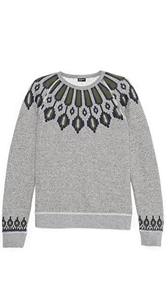 Burkman Bros. Nordic Pattern Fleece Pullover