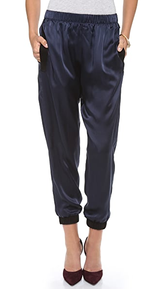 By Chance Stella Track Pants with Suede Trim