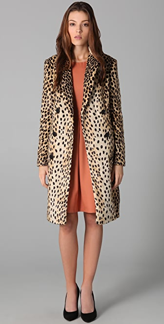 By Malene Birger Rufe Faux Leopard Coat