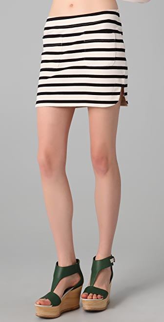 By Malene Birger Alfi Striped Miniskirt