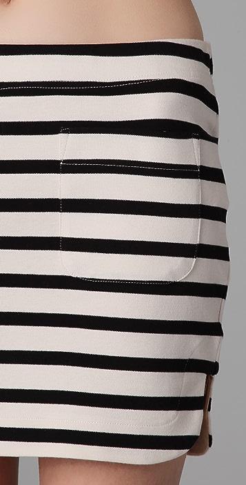 By Malene Birger Alfi Striped Miniskirt