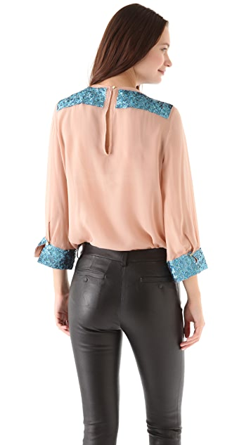 By Malene Birger Ortensia Sequin Blouse