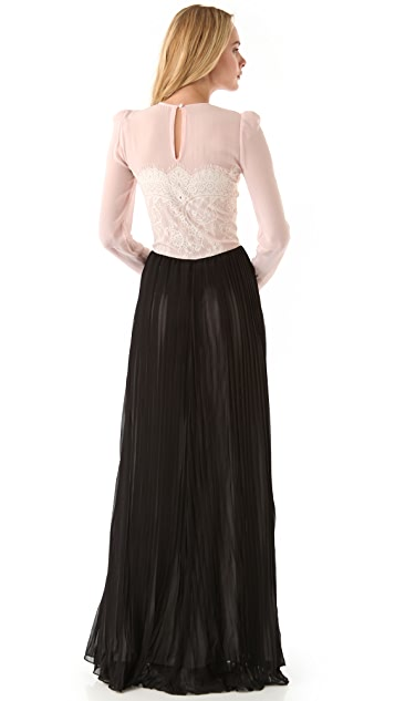 By Malene Birger Vironia Gown with Lace Trim