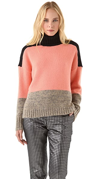 By Malene Birger Elvirah Colorblock Turtleneck