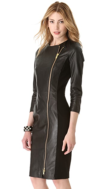 By Malene Birger Mallisia Leather Zip Dress