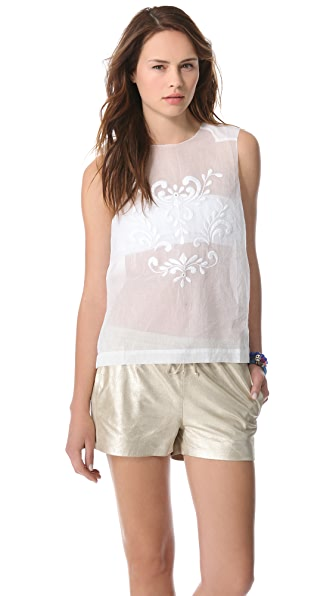 By Malene Birger Malinin Eyelet Top