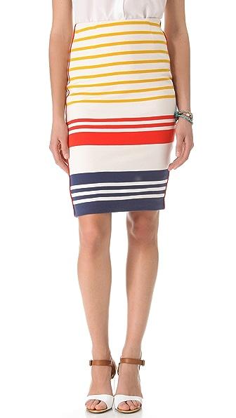 By Malene Birger Mellex Wide Stripe Pencil Skirt