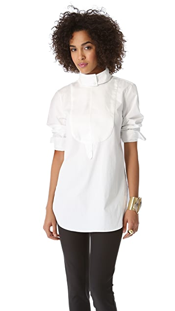 By Malene Birger Poplin Shirt with Removable Collar